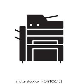 Office printer icon. flat simple pictogram. Multi function Printer scanner vector illustration