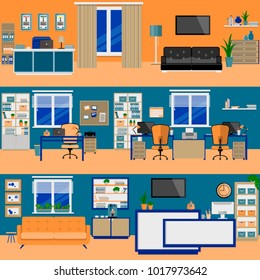 Office rooms flat