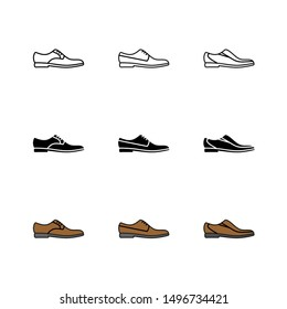 Office Shoes Icon : Suitable for Office Theme, Business / Finance Theme, Education Theme, Infographics and Other Graphic Related Assets.