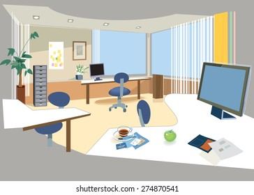 Office space. Vector