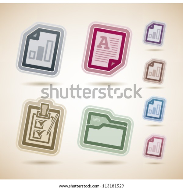 Office Supply Objects Left Right Top Stock Vector Royalty Free 113181529