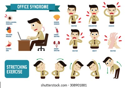 Office syndrome Infographics.