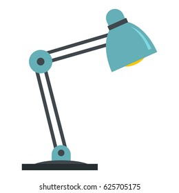Office table lamp icon. Flat illustration of office table lamp vector icon isolated on white background