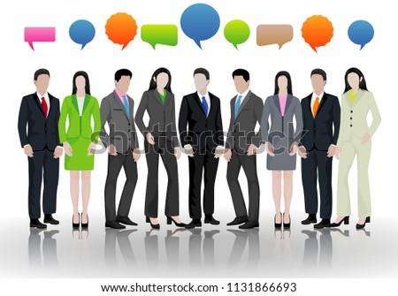 office team cartoon shape vector design stock vector royalty free