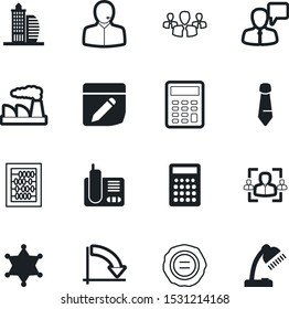 office vector icon set such as: callcenter, authority, stock, approve, electric, smoke, industry, message, success, certificate, help, ink, grunge, round, speaking, industrial, manufacture, focus