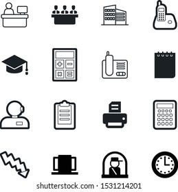 office vector icon set such as: university, employer, check, board, watch, helpline, interview, fill, investment, organizer, college, user, agent, callcenter, entrance, sheet, time, book, team, graph