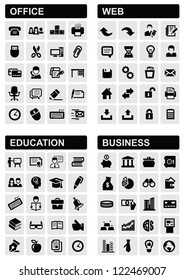 office, web, education and business icons set
