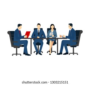 Office Work, workflow, coworking, Teamwork. Business meeting in the company. office meeting