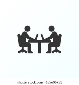 Office workers icon illustration isolated vector sign symbol