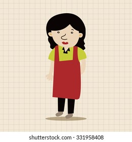 Office workers theme elements