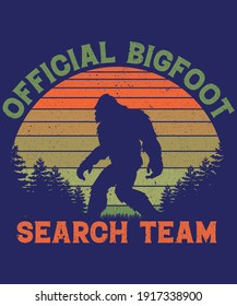 Official Bigfoot search team t-shirt design for adventure lovers