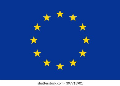 Official EU flag European  Union, stylish vector illustration