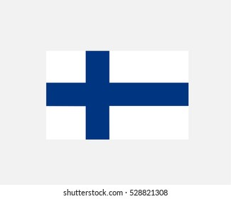 The official flag of Finland