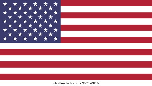 The official flag of the United States of America made to goverment specifications in both size and color