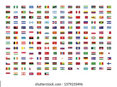official national flags of the world Vector