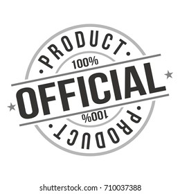 Official Product Stamp Design Vector Art Badge.