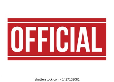 Official Rubber Stamp. Red Official Stamp Seal – Vector