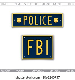 Vectores, imágenes y arte vectorial de stock sobre Fbi Badge