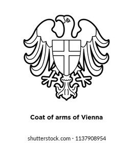 The official symbol of the city of Vienna. Eagle spread his wings.