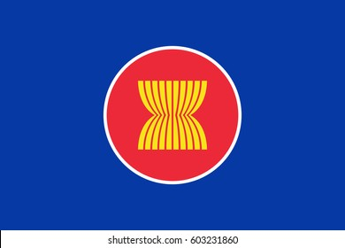 Official vector flag of ASEAN ( Association of Southeast Asian Nations ) .