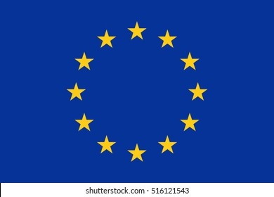 Official vector flag of European Union ( EU )