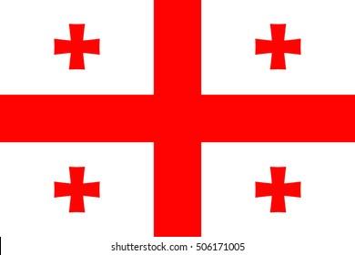 Official vector flag of Georgia .