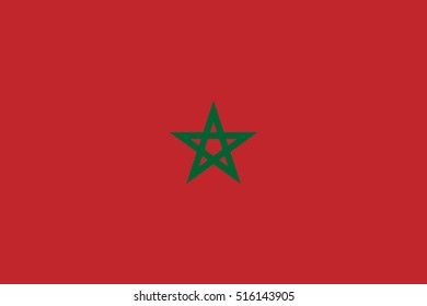 Official vector flag of Morocco .