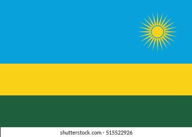 Official vector flag of Rwanda .