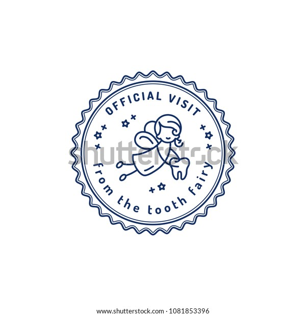 picture relating to Printable Tooth Fairy Receipt named Formal Check out Enamel Fairy Childrens Dentistry Inventory Vector