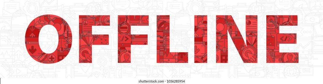 Offline background banner vector
