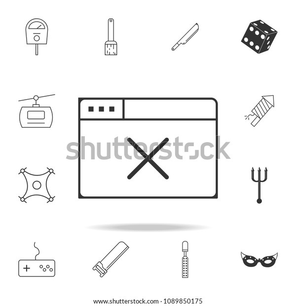 Offline Browser Icon Detailed Set Web Stock Vector (Royalty