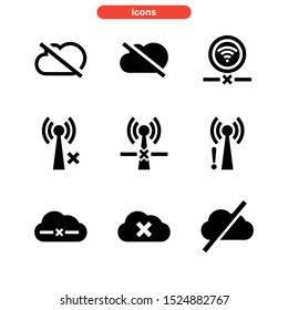offline icon isolated sign symbol vector illustration - Collection of high quality black style vector icons