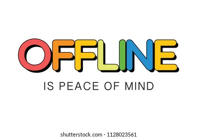 offline slogan rainbow
