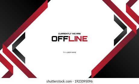 offline streaming banner background with red and black