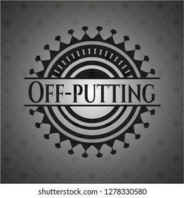 Off-putting dark emblem