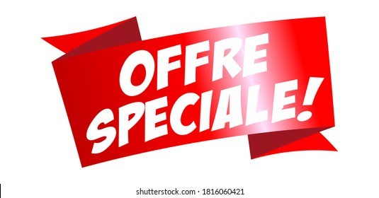 Offre spéciale : Special offer on red ribbon