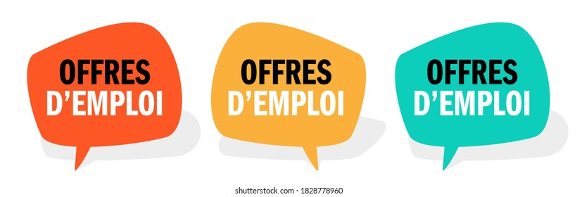 Offres d'emploi, Job offers in french language