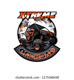 Off-Road ATV Buggy Logo, Extreme adventure.