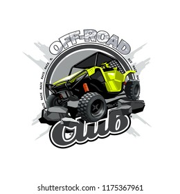 Off-Road ATV Buggy Logo, Off Road Club.