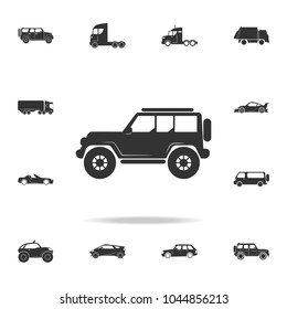 Off-road car icon. Detailed set of transport icons. Premium quality graphic design. One of the collection icons for websites, web design, mobile app on white background