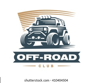 Off-road car logo illustration, emblem