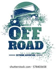 Off-road car logo, safari suv, expedition offroader.