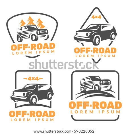Offroad Car Logo Offroad Vehicle Icon Stock Vector Royalty Free