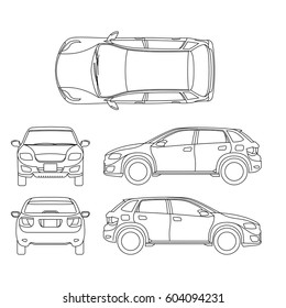 car line drawing images  stock photos  u0026 vectors
