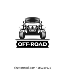 off-road suv car monochrome labels