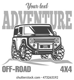 off-road suv car poster