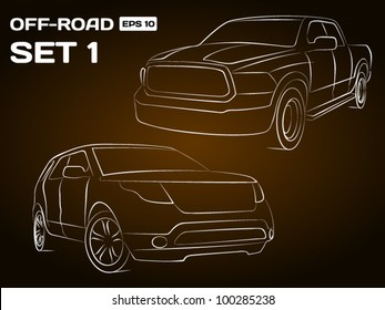 Off-Road Vehicle Silhouettes