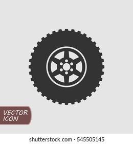 Offroad wheel icon