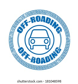 off-roading grunge stamp with on vector illustration