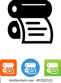 Offset Printer With Document Icon